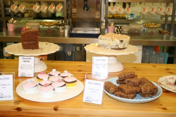 The cakes in our tea room are all home made and all delicious
