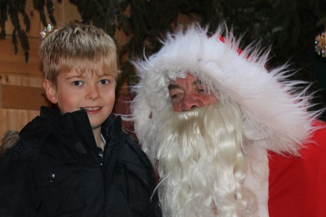 Father Christmas with a small child