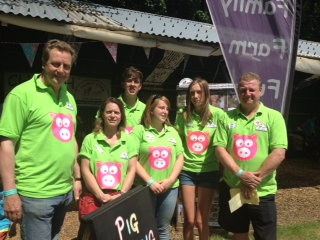 The Pig Racing Team at Norfolk Show 2015