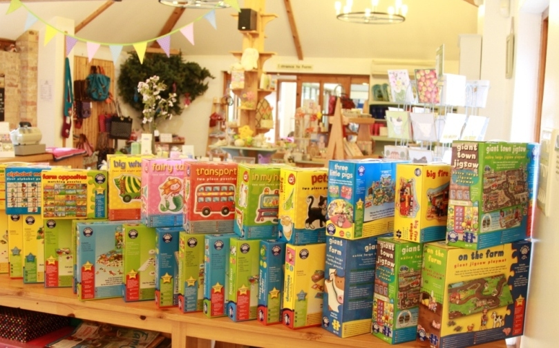 Children's games and toys are always available in the shop