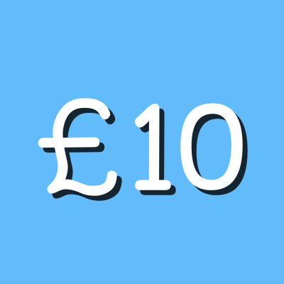 £10 graphic