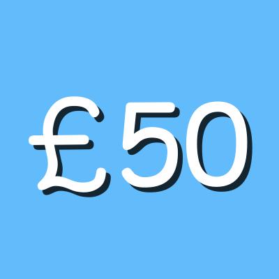 £50 graphic