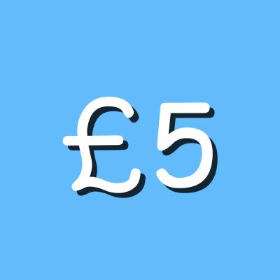 £5 graphic